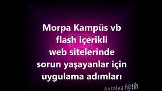 Pardus Etap Morpa Kampüs vb flash içerikli web siteleri için flash etkinleştirme adım... izle