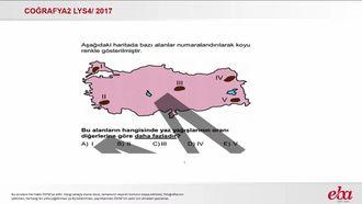 Türkiye'nin Fiziki Özellikleri (2017 LYS4-Coğrafya2) izle
