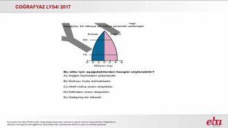 Nüfusun Gelişimi Dağılışı ve Nitelikleri (2017 LYS4-Coğrafya2) izle