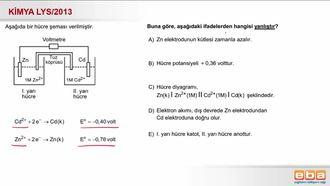 2013 LYS- Pil Hücre Şeması ve Hesaplamaları izle