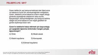Öğrenme Türleri (2017 LYS- FELSEFE) izle