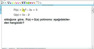 Polinom Türleri Ve Polinomlarda İşlemler 5 izle