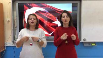 İşaret Dili ile Onuncu Yıl Marşı izle