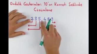 8. Sınıf Matematik Ondalık Gösterimleri 10'un Tam Sayı Kuvvetleri ile Çözümleme izle
