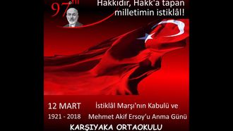 12 Mart İstiklal Marşının Kabulü ve Mehmet Akif Ersoy'u Anma Videosu izle