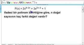 Polinomun Tanımı Ve Temel Kavramları - Kurs - 4 izle