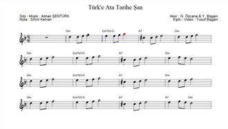 Nota Akor Eşlik - Türk'e Ata Tarihe Şan izle