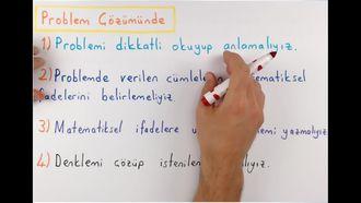 7. Sınıf Matematik Denklem Kurma Problemleri izle