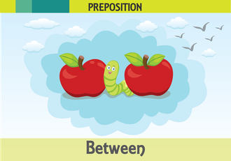 İngilizce uzamsal ilişkiler resimlerle anlatılır.(Between-Arasında)