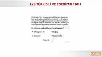 2012 / LYS DİL BİLGİSİ KARMA izle