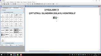 PNÖMATİK DERS 9- ÇiFT ETKiLi SiLiNDiRiN DOLAYLI KONTROLÜ izle