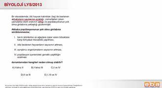 2013 LYS Biyoloji Popülasyonlar izle