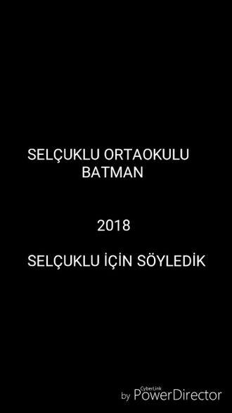 Batman Selçuklu ortaokulu Uzun ince bir yoldayım izle