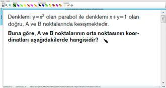 Parabolün Grafiğinin Çizimi ve Doğru ile Parabolün ve İki Parabolün Durumları 13 izle