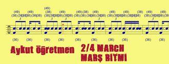 2/4 March Marş Ritmi Marşların Temel Ritmidir Sol Sağ İnsan Yürüyüşü Şeklindedi... izle