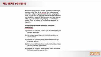 2013 YGS Bilimsel Kuramın Özellikleri izle