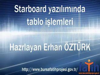 Starboard Yazılımında Tablo İşlemleri izle