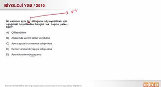 2010 YGS Biyoloji Sınıflandırılma izle