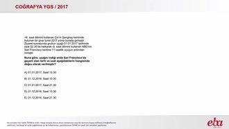 Uluslararası Saat Dilimleri (2017 YGS-Coğrafya) izle
