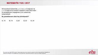 Doğrunun Analitiği (2017 YGS - Matematik) izle
