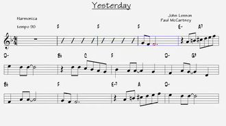 Yesterday ( The Beatles ) - Nota / Akor / Eşlik izle