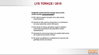LYS 2015 18. YÜZYIL DİVAN ŞİİRİ izle
