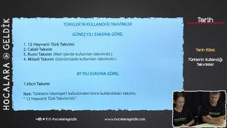 Türklerin Kullandığı Takvimler izle