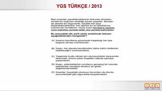 YGS 2013/ SÖZCÜK VE SÖZCÜK ÖBEKLERİNDE ANLAM izle