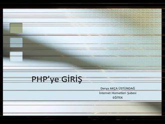 PHP'ye Giriş izle