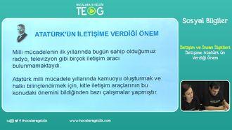 İletişime Atatürk'ün Verdiği Önem izle