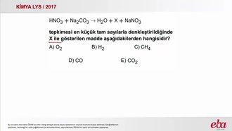 Kimyasal Tepkimelerde Denkleştirme ( 2017 LYS- KİMYA) izle