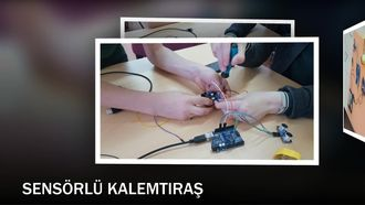 SENSÖRLÜ KALEMTIRAŞ (Arduino Robotik Kodlama) izle