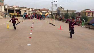 Elif Ortaokulu Beden eğitimi dersi koordinasyon ve beceri parkuru izle