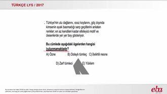 Cümlenin Ögeleri (LYS 2017- TÜRK DİLİ VE EDEBİYATI) izle