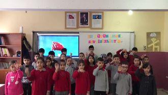 Yeşilyurt İlkokulu Öğrencileri işaret diliyle İstiklal Marşımızı söyledi izle