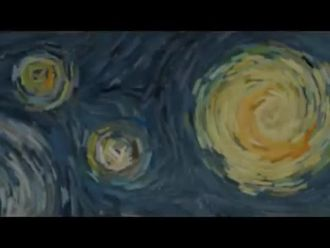 Van Gogh Yıldızlı Gece Animasyon izle