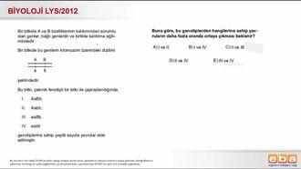 2012 LYS Biyoloji Bağlı Genler izle