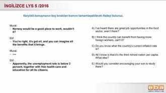 2016- LYS 5 Karşılıklı Konuşma izle
