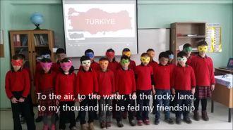 Devrekani Yunus Emre İlkokulu öğrencileri Türkiye'yi tanıtan şarkı söyledi. izle