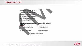 Ses Olayları (LYS 2017 TÜRK DİLİ VE EDEBİYATI) izle