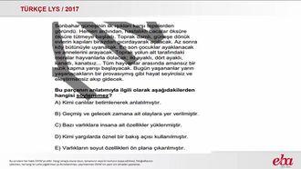 Paragrafın Anlatımı (LYS 2017- TÜRK DİLİ VE EDEBİYATI) izle