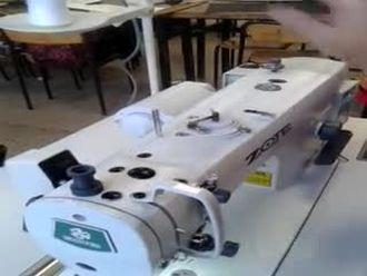 Düz dikiş makinasına iplik takma izle