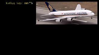 Airbus A380'in Kalkış Süresi izle
