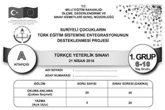 Türkçe Yeterlik Sınavı - 2