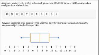 Kutu (Kutu-Bıyık) Grafiği Alıştırması izle