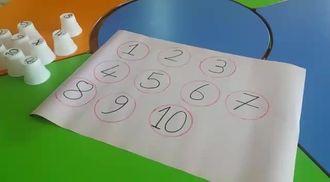 Ped bardaklarla sayı oyunu izle