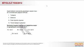 2012 YGS Biyoloji Çiçekli Bitkilerde Üreme izle