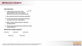 2013 LYS Biyoloji Vitaminler izle