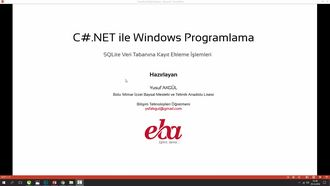 C#.NET ile Veri Tabanı İşlemleri Bölüm-1 (Kayıt Ekleme) izle