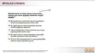 2012 LYS Biyoloji Taşıma Kapasitesi izle